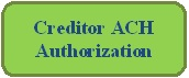 Rounded Rectangle: Creditor ACH Authorization